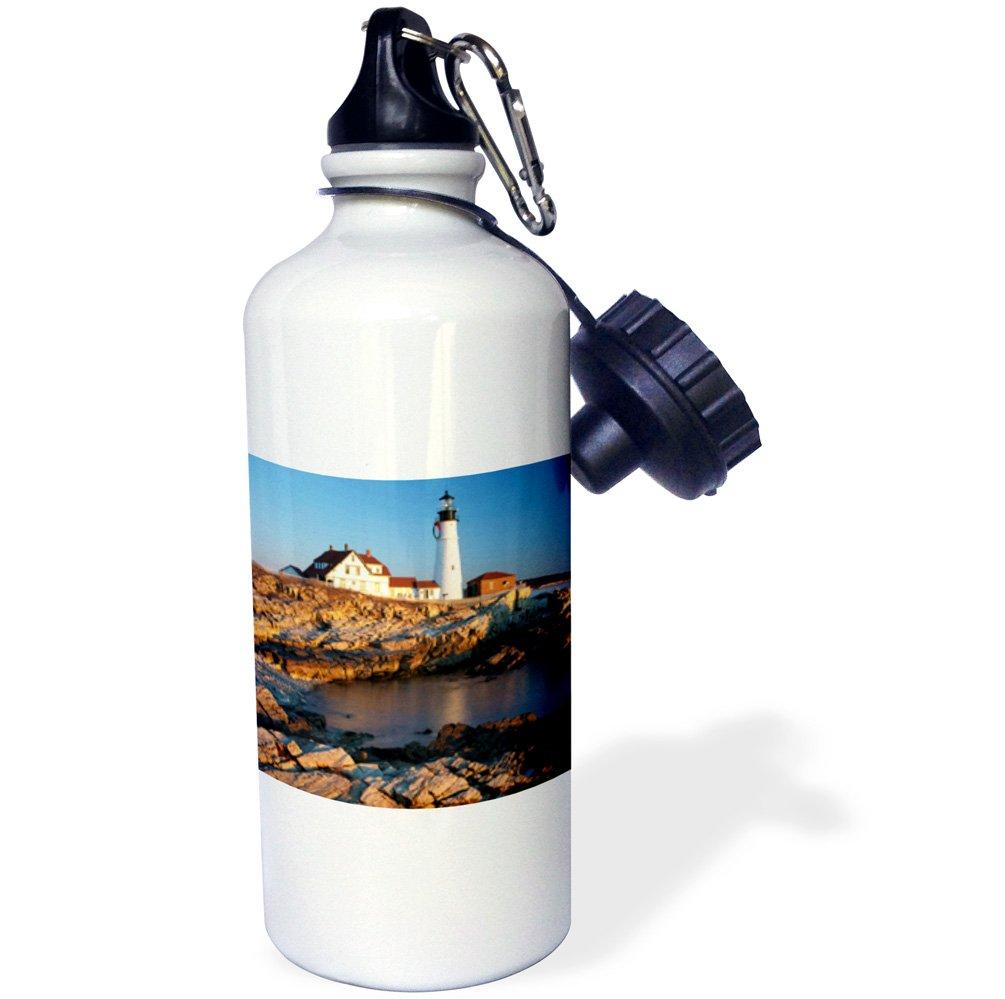 3dRose wb/_144528/_1Winter dawn Portland Head Lighthouse White USA-US20 BJN0015-Brian Jannsen Sports Water Bottle Maine 21 oz