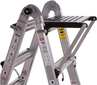 ORIENTOOLS Escalera Plataforma de Trabajo Accesorio Escalera con Clasificación 375 libras: Amazon.es: Bricolaje y herramientas