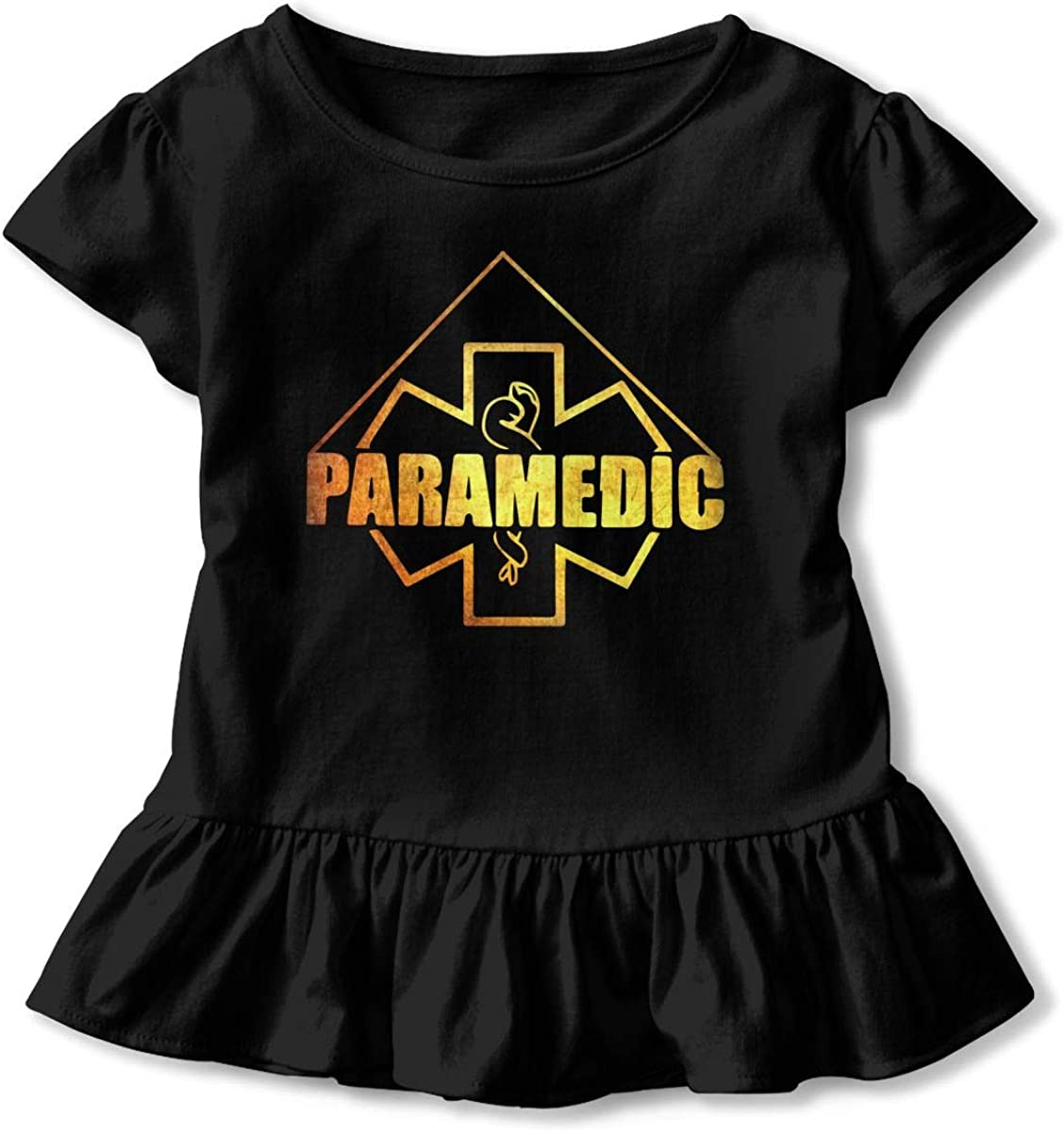 Cheng Jian Bo Paramedic Performance Toddler Girls T Shirt Kids Cotton Short Sleeve Ruffle Tee