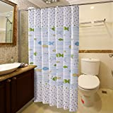 thick polyester shower curtain mold waterproof shower curtain/Environmentally-friendly toilet bathroom shower curtain cloth-P