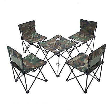 ZYWTZ Mesa y Sillas de Camping Mesa y Sillas Plegables ...