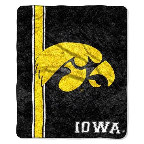 Northwest COL 065 NCAA Iowa Hawkeyes 50-Inch-by-60-Inch Sherpa Throw Blanket Jersey Design