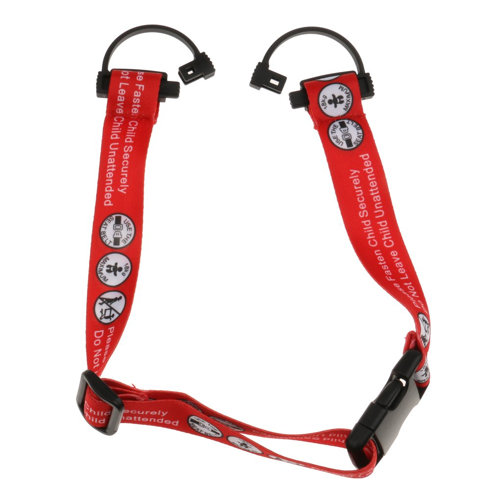 MagiDeal Strong Baby Safety Belts for Shopping Cart Baby Stroller Wraps Strap Accessory - Red