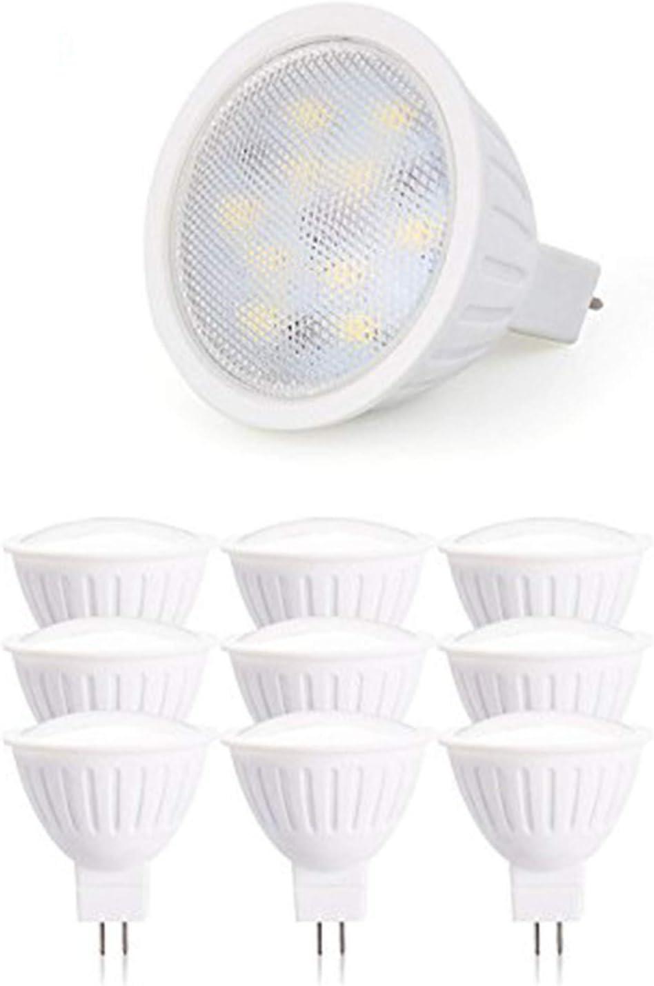 Gu5 3 Base Led Light Bulb Dimmable 5w Spotlight 50w Halogen Equivalent 120v Mr16 Bi Pin Base Warm White 2700k Flood Light Bulb For Accent Lighting Display Lighting Track Lighting Pack Of 10 Home Improvement Amazon Com