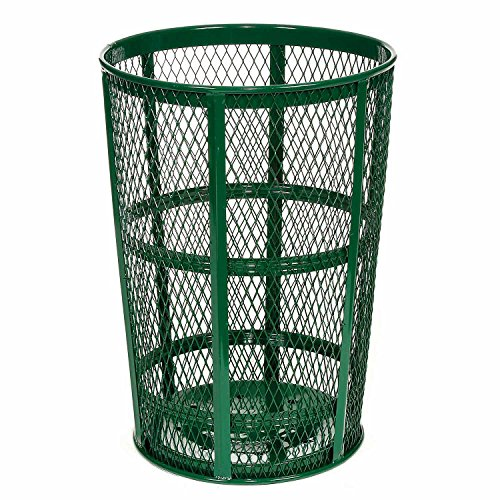 - Witt Industries EXP-52GN Steel 48-Gallon Outdoor Waste Receptacle, Round, 23