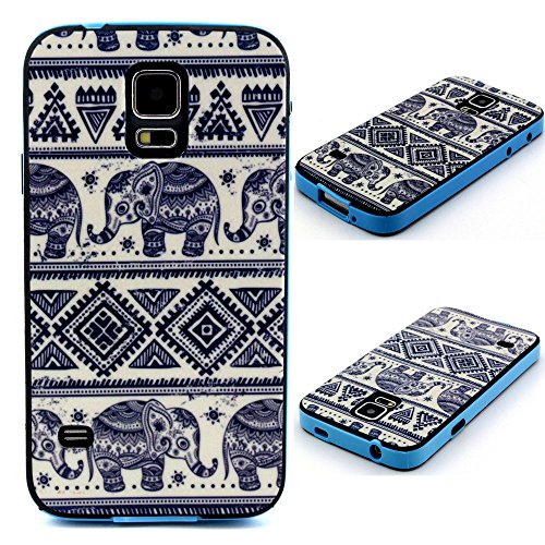 Galaxy S5 Case, U-Gem star Colorful Heavy Duty Hybrid Rugged Hard Case Cover For Samsung Galaxy S5,with SIM Card Adapter Kit+Screen Protector+Black Stylus (PC-6)