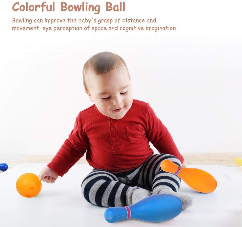 Alomejor Jouet Bowling Set Color/é Kid Mini Bowling Ball Jeu de Quilles pour Enfants Int/érieur Ext/érieur D/éveloppement Intelligent 5in