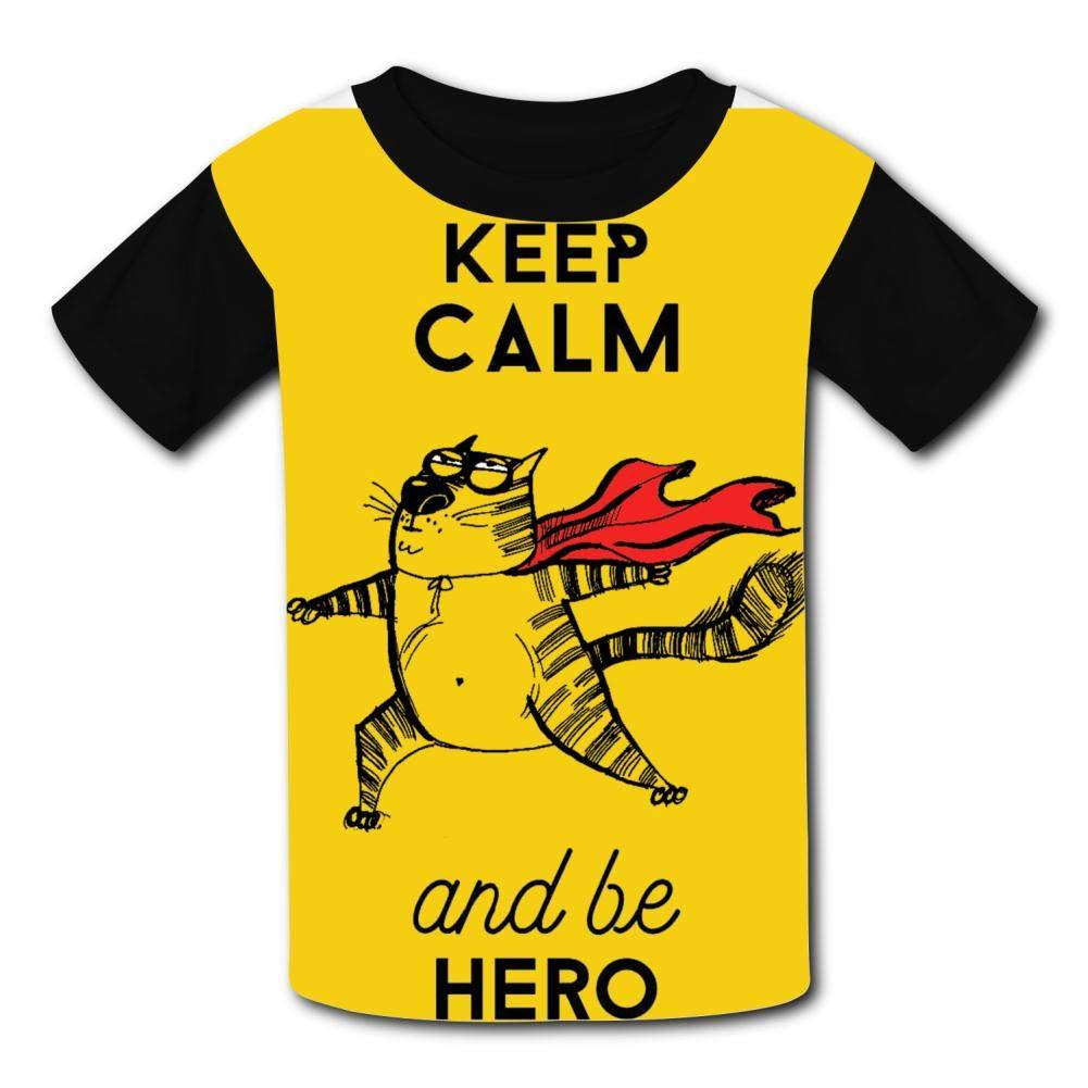 TSDDM Cat Boy Short Sleeve T-Shirt Childrens Cool Casual Shirt