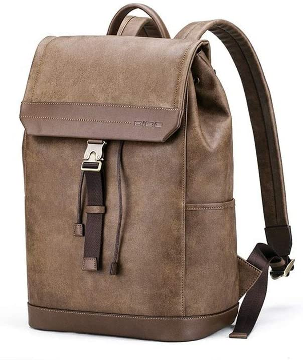 Lydianzishangwu Fashion Travel Custom Men Backpack Large-Capacity Travel Casual Bag Fashion Trend Travel Shopping Color : Brown, Size : S
