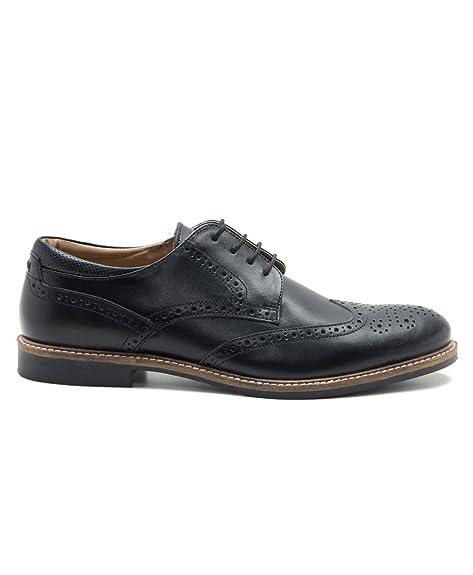 Red Tape - Zapatos de cordones de Piel para hombre Negro negro, color Negro, talla 41 EU