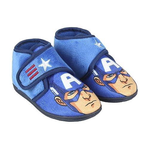 Avengers Capitán América - Zapatillas de Estar por casa Slip Media Bota (23 EU)