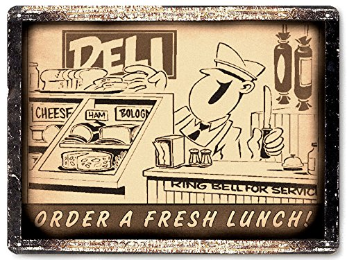 butcher shop Deli store metal sign diner wall display antique vintage style / for restaurant wall decor 040