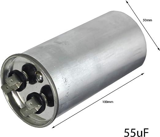 SPARES2GO CBB65-A - Condensador de motor de CA para frigorífico y ...