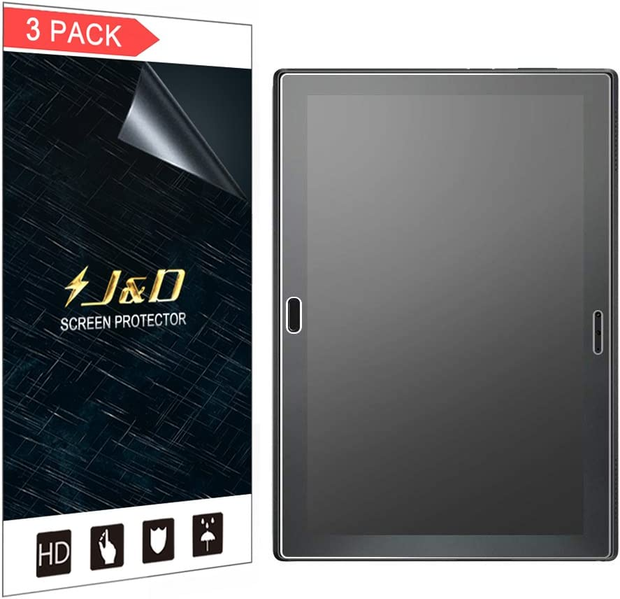 J&D Compatible for 3-Pack Lenovo Tab 4 10 Plus Screen Protector, [Anti-Glare] [Anti-Fingerprint] [Not Full Coverage] Matte Film Shield Screen Protector for Lenovo Tab 4 10 Plus Matte Screen Protector