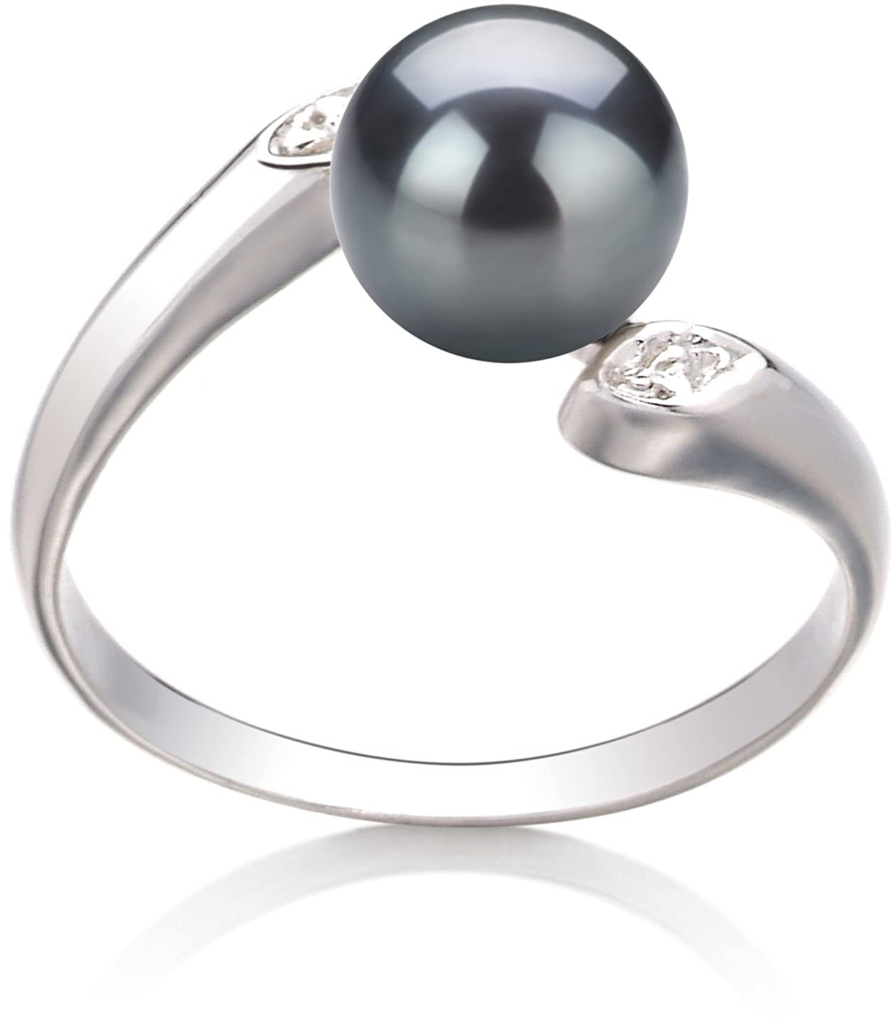 Dana Black 6-7mm AAA Quality Freshwater 925 Sterling Silver Cultured Pearl Ring PearlsOnly