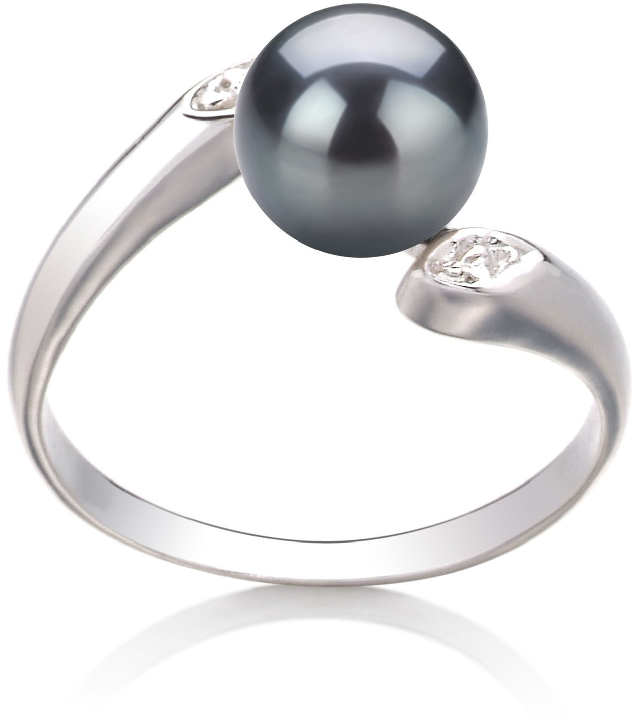 Dana Black 6-7mm AAA Quality Freshwater 925 Sterling Silver Cultured Pearl Ring - Size-7