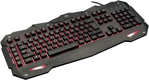 Trust Gaming GXT 840 Myra - Teclado Gaming con iluminación LED, Negro - Teclado QWERTY Español