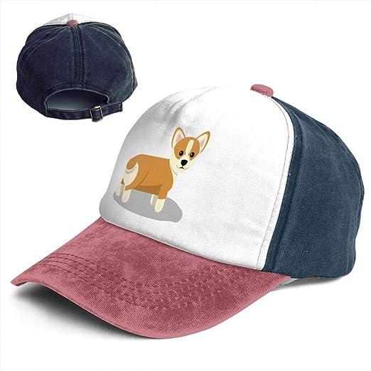 98afa6d2f Amazon.com: Fashion Vintage Hat Corgi Clip Art Cute Adjustable Dad ...