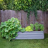 FOYUEE Galvanized Raised Garden Beds for Vegetables Metal Planter Boxes Outdoor Large Patio Bed Kit Planting Herb, 5x3x1ft