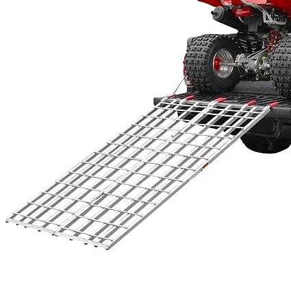 Atv Truck Ramps >> Amazon Com Black Widow Ibf 7144 71 X 44 Aluminum Bi Fold Atv