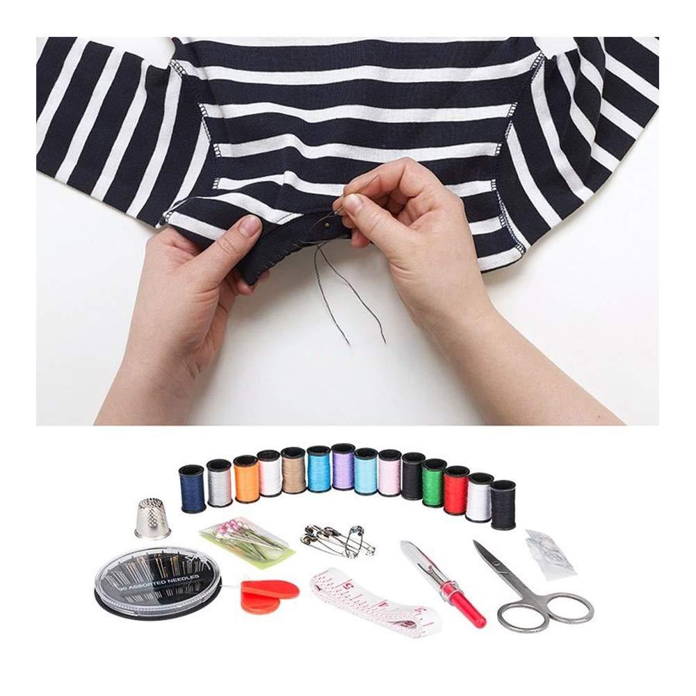 Colorido Yi-Achieve Kit De Costura DIY Premium Fuentes De Costura Port/átil Mini Kit De Costura DIY Arte Hecho A Mano De Costura Y Reparaci/ón De Los Suministros del Kit De 68pcs Inicio Viaje
