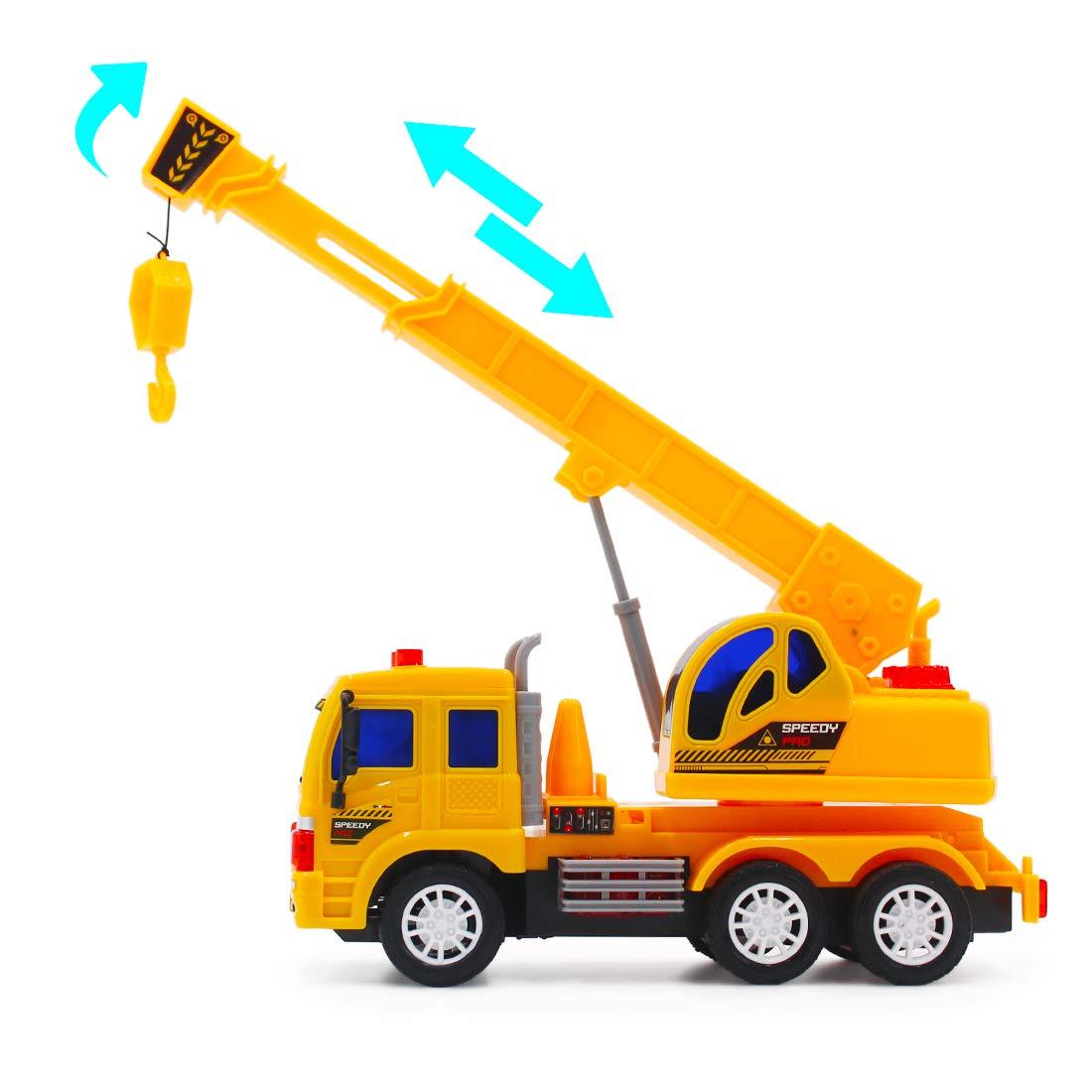 5 Kan/äle Fahrzeug mit Ger/äusch-und Lichteffekten Anf/änger Level Kranwagen deAO RC LKW funkgesteuerte Baustellenfahrzeug-Serie