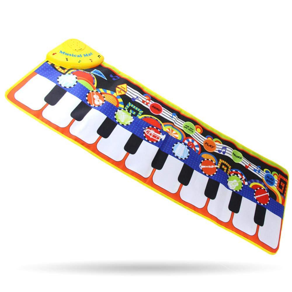 d0dc50a4010 Womdee Alfombrilla de Piano Musical para Mujer