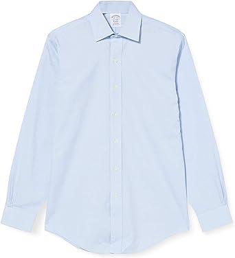 BROOKS BROTHERS 100029334 Camisa, Azul (Light/Pastel Blue 455), 35 para Hombre: Amazon.es: Ropa y accesorios