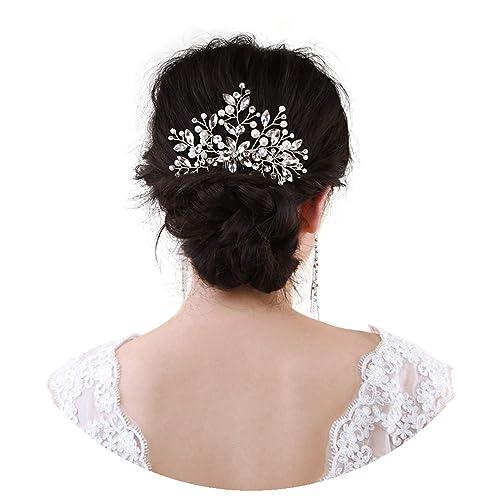 Neu Frauen Damen Strass Braut Hochzeit Blume Perlen Stirnband Haarspange·Schmuck