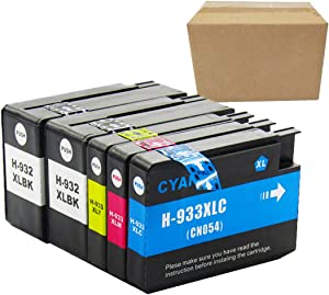 Replacement Ink Cartridge HP 932 HP 933 Ink Cartridge is Suitable for HP Officejet 6100 6600 6700 7110 7510 7610 7612 Printer(Content: 2 Black, 1 Cyan, 1 Magenta, 1 Yellow)