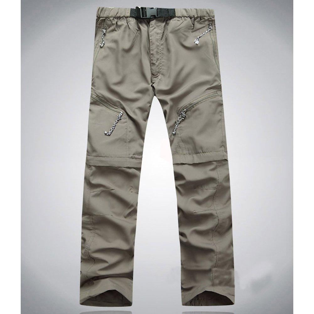 Hombres y mujeres desmontables de secado r/ápido de senderismo pantalones pantalones deportivos para camping al aire libre Trekking Caqui /_ L