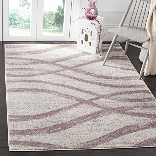 Safavieh Adirondack Collection ADR125L Cream and Purple Modern Area Rug (8' x 10')