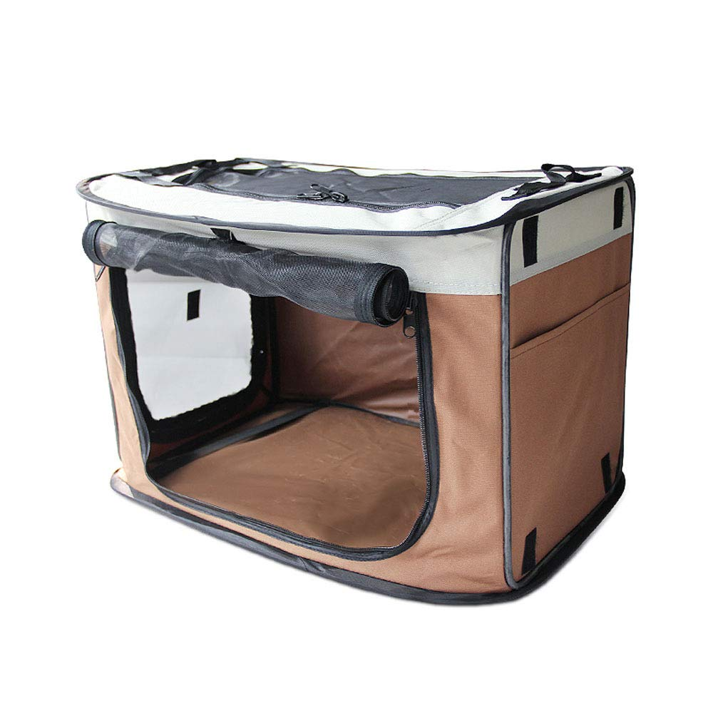 Brown 816762cm Brown 816762cm LDOG Pet Car Seat Carrier Folding Waterproof Mesh Dog Car Seat Crate With Seat Belt Storage Bag For Dogs And Cats
