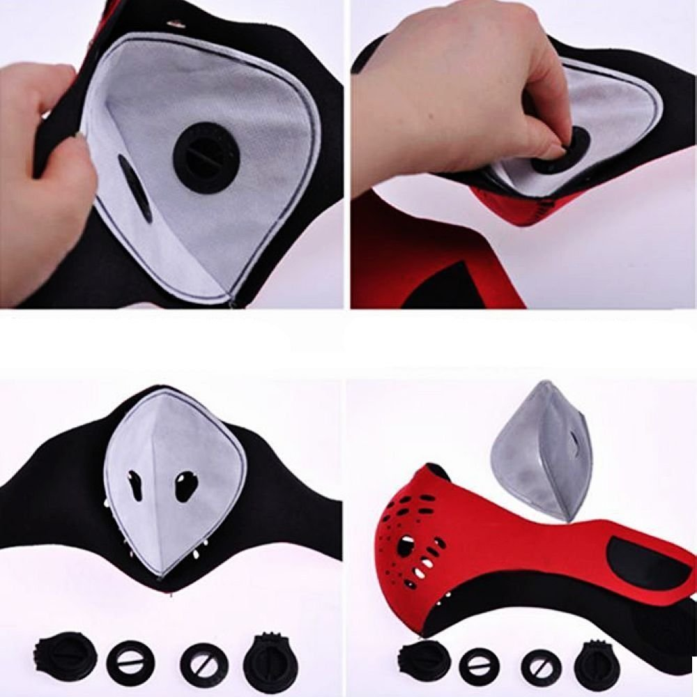Kasstino Neoprene Anti Dust New Motorcycle Bicycle Cycling Bike Ski Half Face Mask Filter