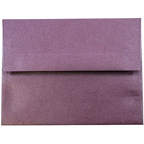 (JAM PAPER A2 Metallic Invitation Envelopes - 4 3/8 x 5 3/4 - Ruby Purple Stardream - 25/Pack)