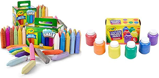 amazon com crayola washable sidewalk chalk set outdoor