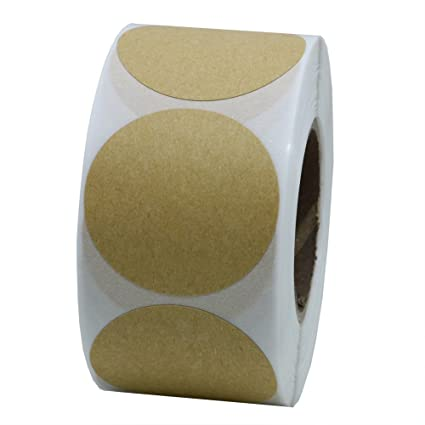 Hybsk 1 5 round brown kraft paper sticker labels packaging sealing labels 500 total per roll