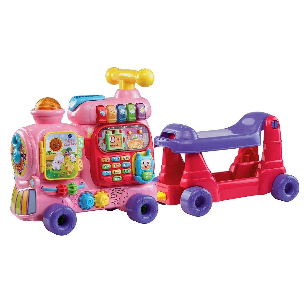 Amazoncom Vtech Sit To Stand Ultimate Alphabet Train Pink Toys
