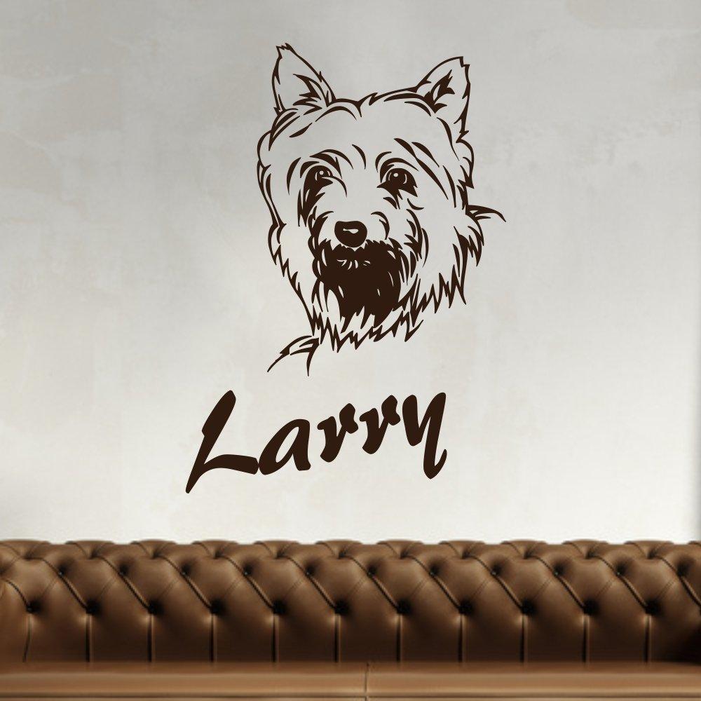 Adhesivo de - Terrier con nombre de pared con diseño de tatuaje de ...
