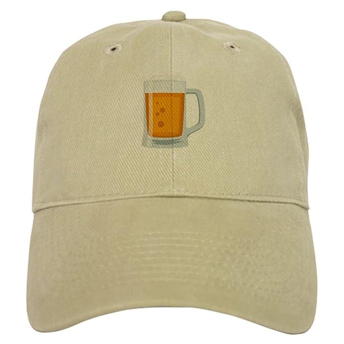 9ecb911e CafePress Beer Mug Emoji Baseball Cap with Adjustable Closure, Unique  Printed Baseball Hat Khaki
