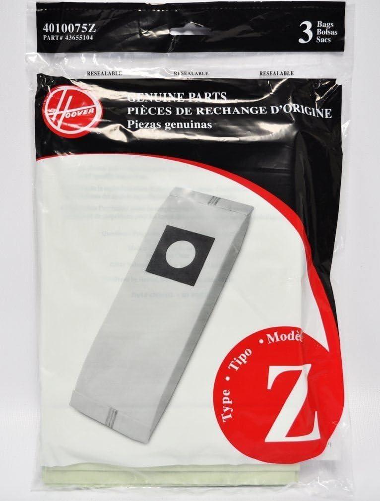 Hoover Type 4010075Z Z Bag, 9-Pack