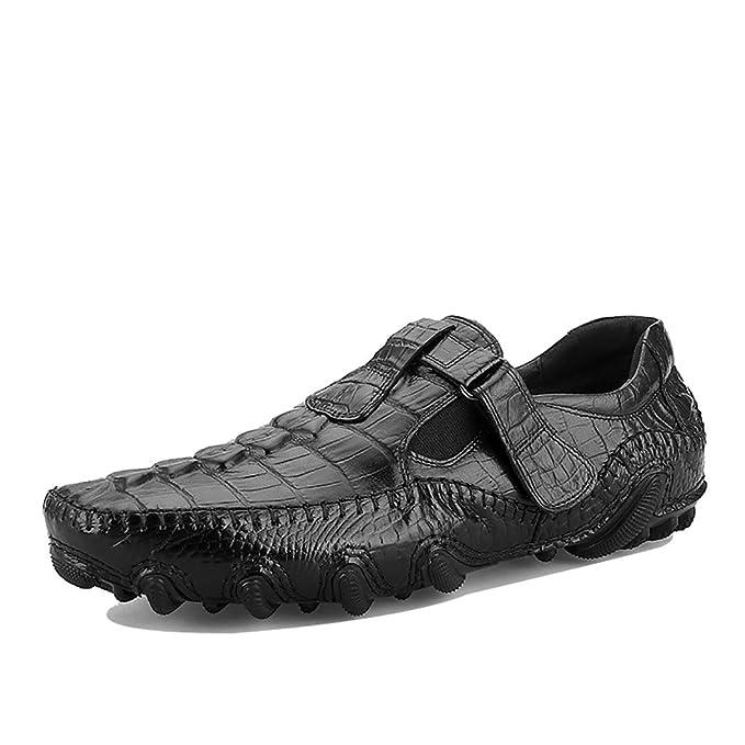 LYMYY Calzado de cocodrilo para hombre Zapatos mocasines de ...