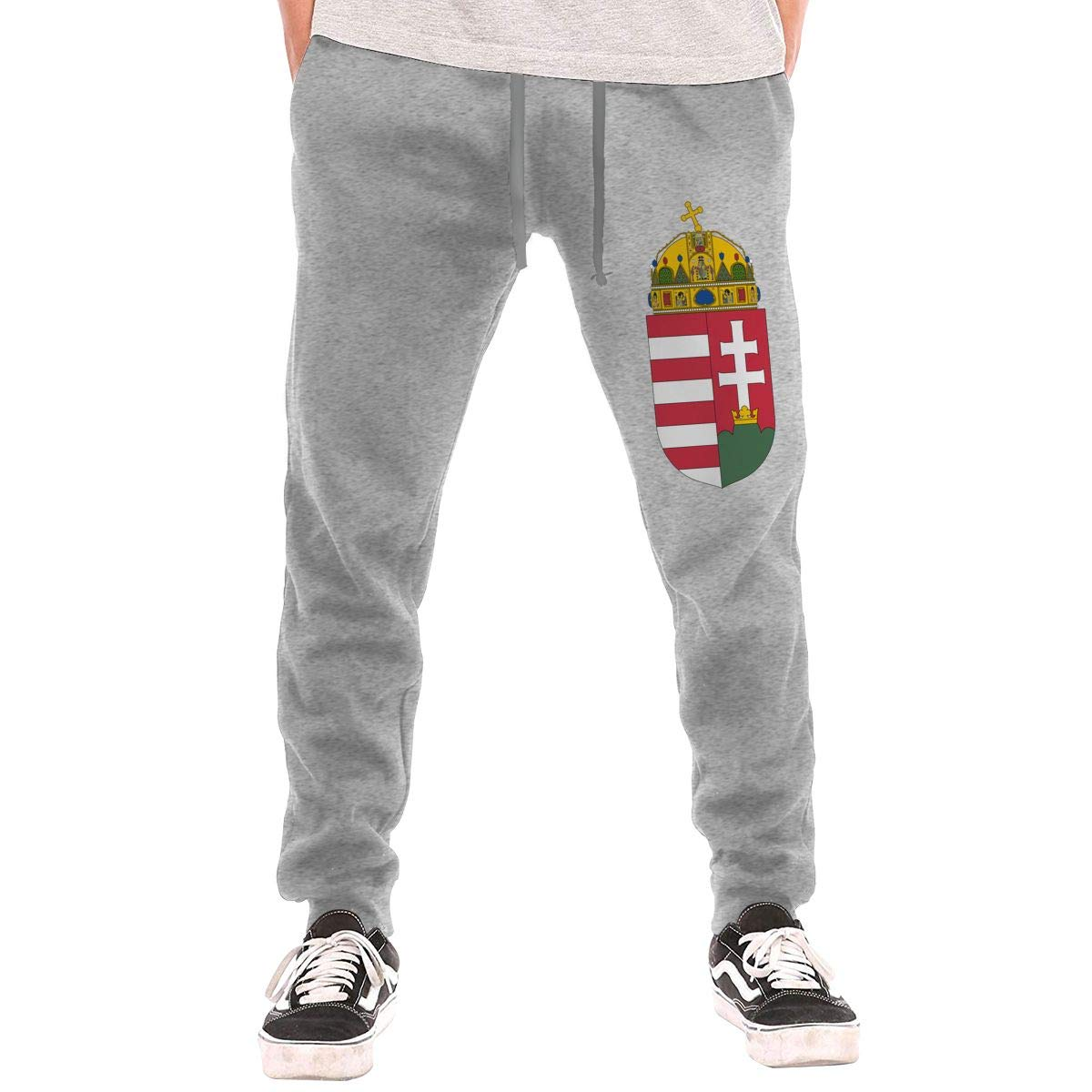 HHCW4LD Coat of Arms of Hungary Mens Joggers Casual Lounge Pajama Gym Workout Yoga Pants Casual Long Pants