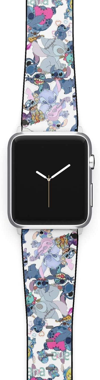 Watch Band Compatible with Apple iWatch All Series 38mm 40mm 42mm 44mm Cartoon Design Strap (stich3) (42/44mm)