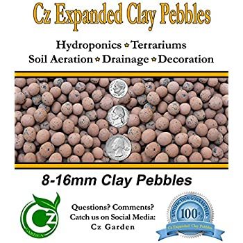 ORGANIC Hydroton Leca Expanded Clay Pebbles Grow Media - Orchids • Hydroponics • Aquaponics • Aquaculture - by Cz Garden Supply