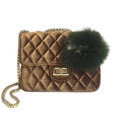 Amazon.com: Ladies Fashion qiuling lana bolsa de franela ...