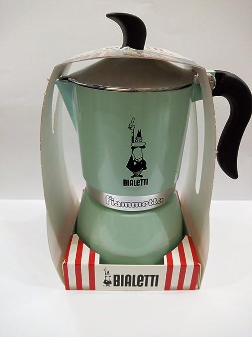 Bialetti Fiammetta Cafetera 3 Tazas Verde Agua: Amazon.es: Hogar