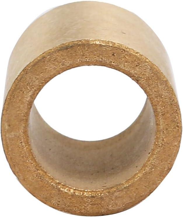 sourcing map 2pcs 14mmx20mmx25mm m/étal Poudre Manchon Bronze Bague palier