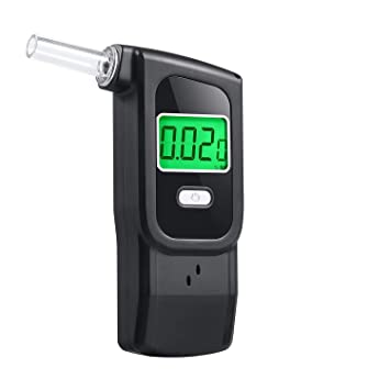 Alcohol Breathalyzer, Portable Breathalyzer, Semiconductor Alcohol Tester for Personal Use with 5 Replaceable Mouthpieces