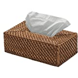 KOUBOO Rectangular Rattan Tissue Box Cover, Honey Brown